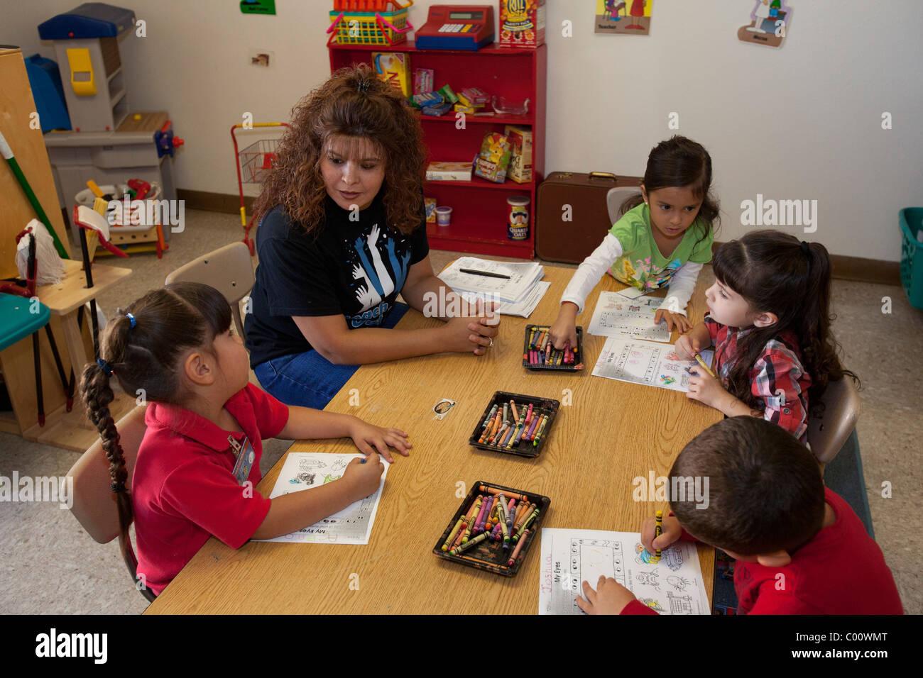 Pre-Kindergarten Classroom - Stock Image