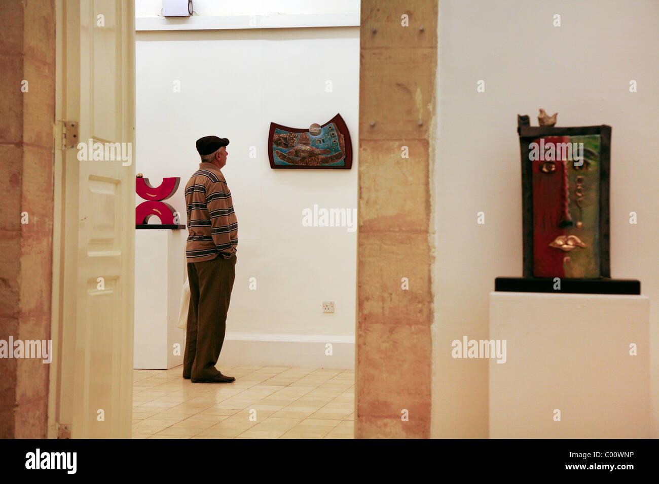 Darat Al Funun art gallery, Amman, Jordan. - Stock Image