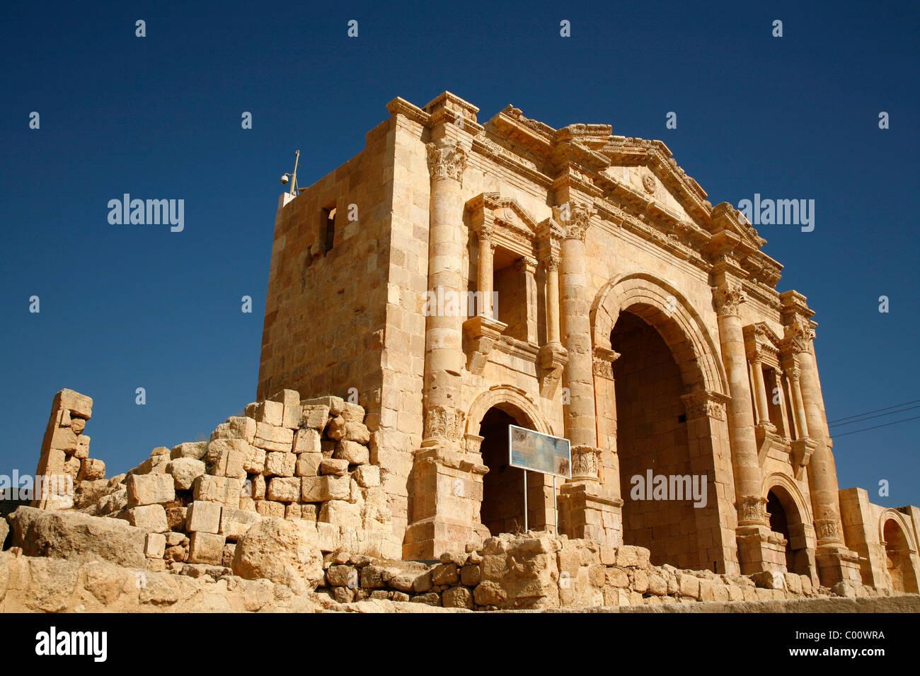 Hadrian's Arch, Jerash, Jordan. - Stock Image