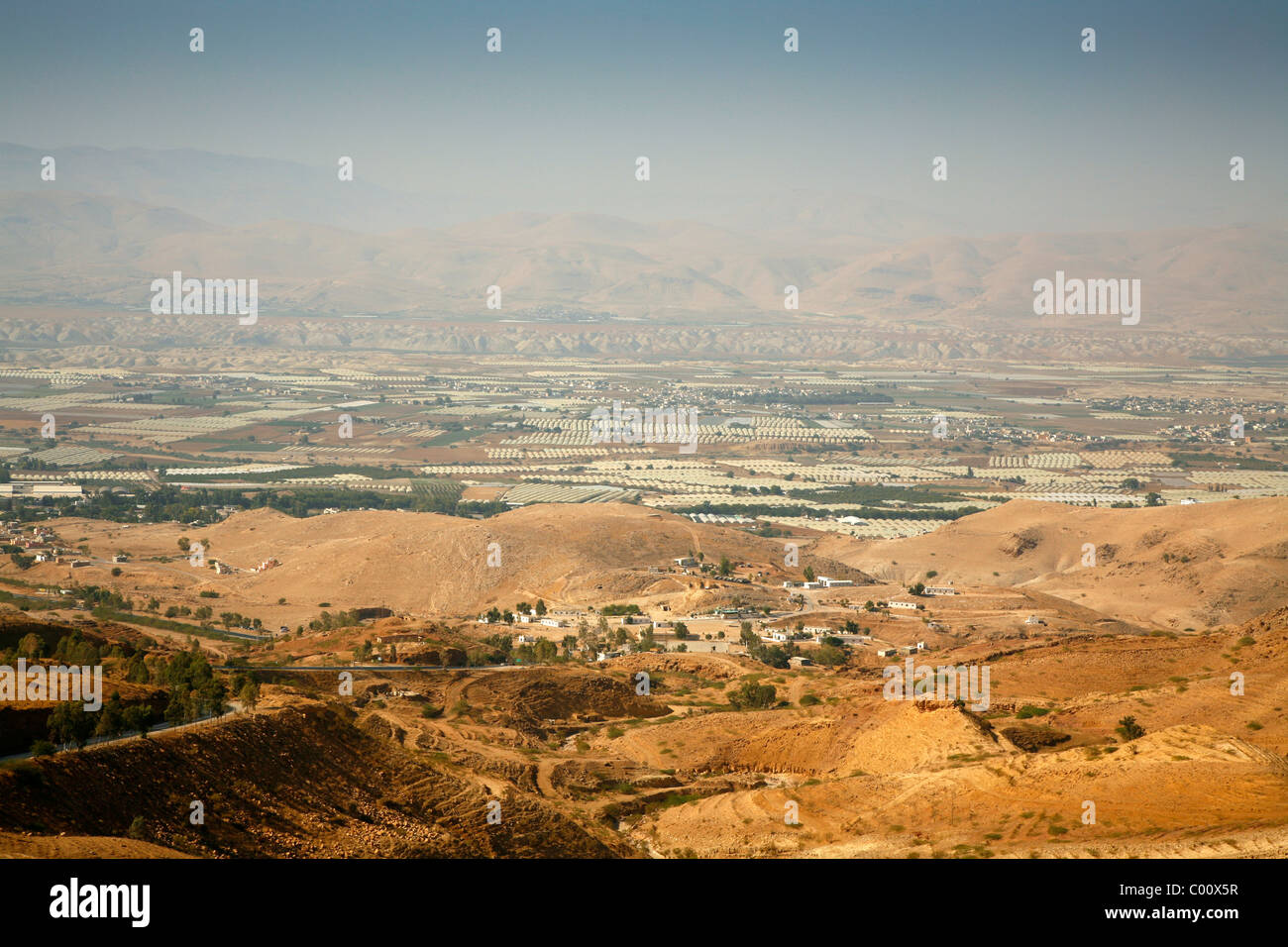 View over the Jordan Valley, Jordan. - Stock Image