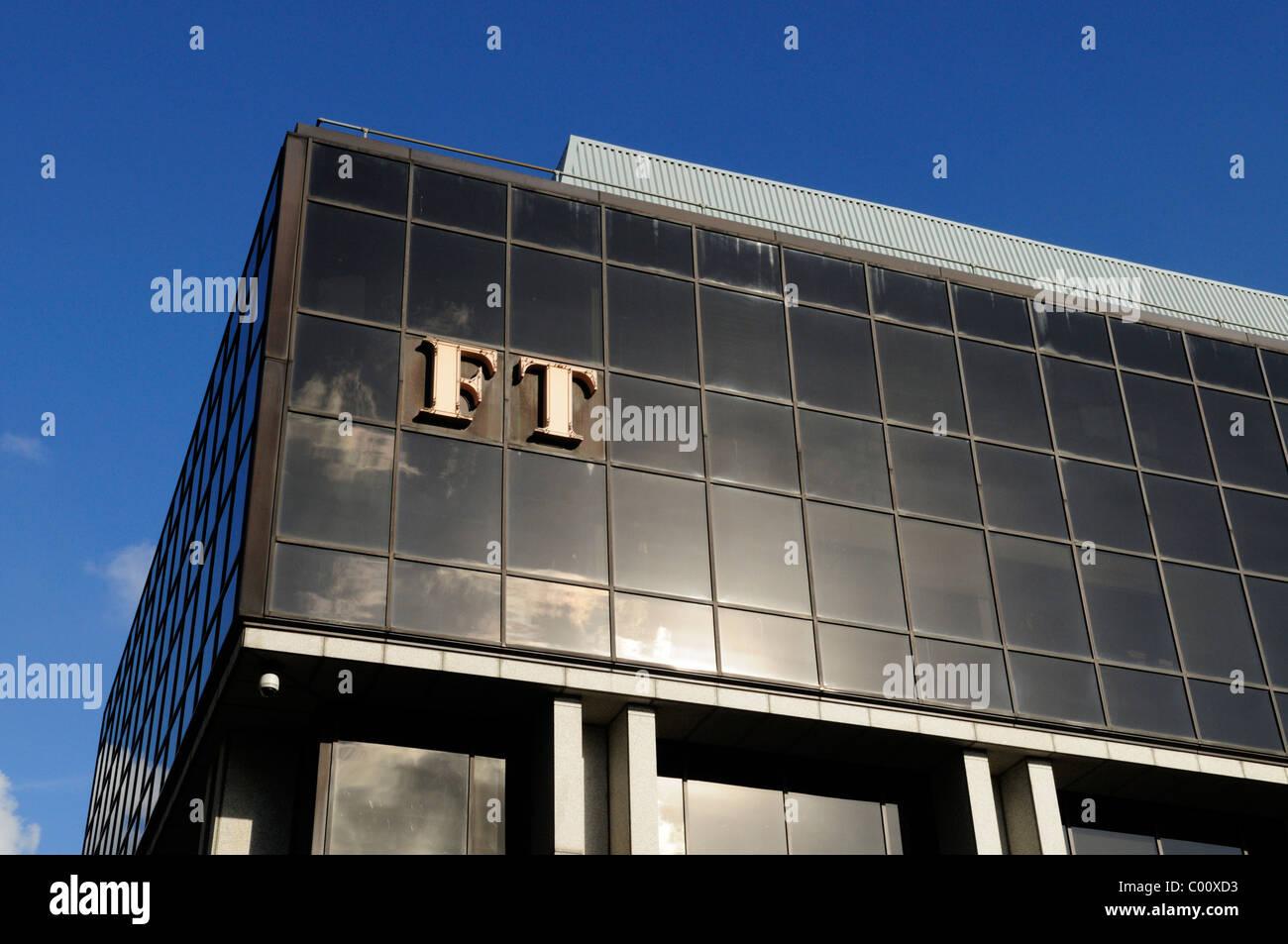 Detail of the Financial Times HQ Building, 1 Southwark Bridge, London, England, UK - Stock Image