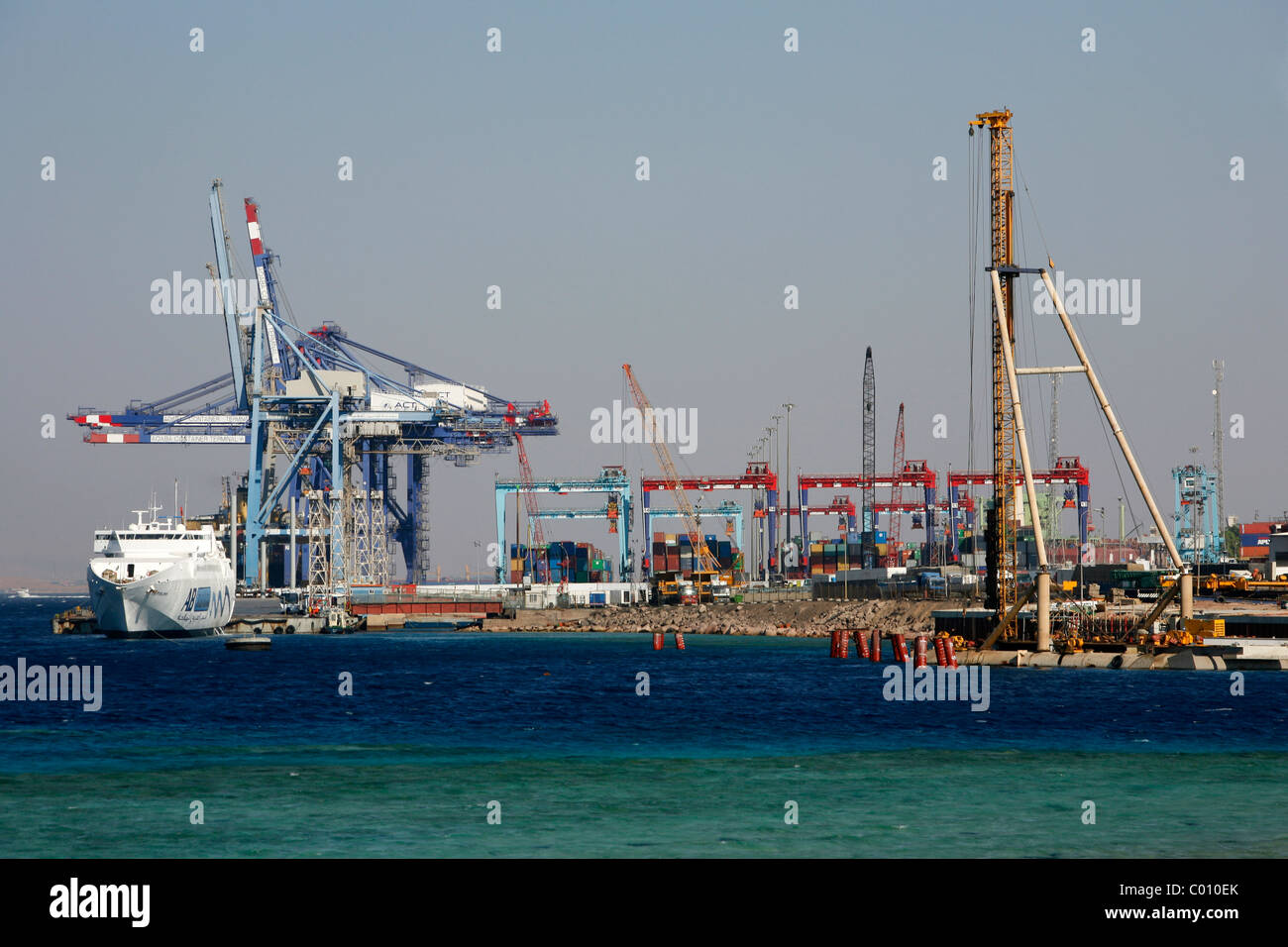 The port of Aqaba, Jordan. - Stock Image