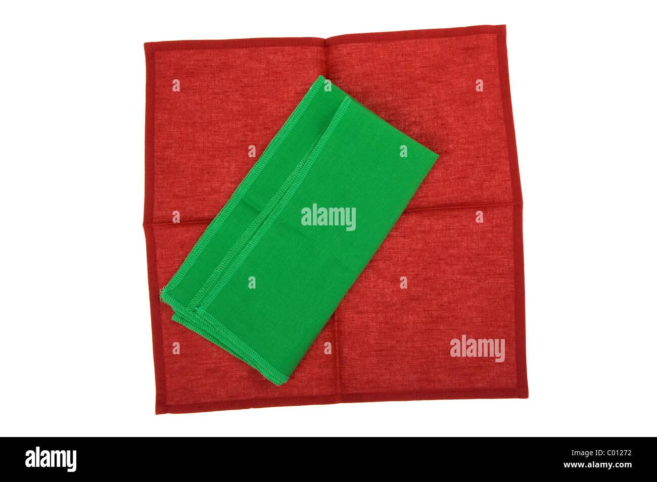 object on white - napkin close up - Stock Image