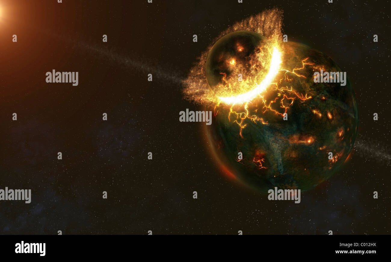 Ancient Earth Impact - Stock Image