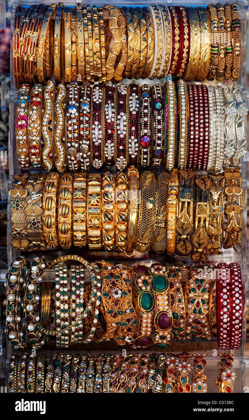 Indian Bangles  Indian womans jewelry on a merket stall
