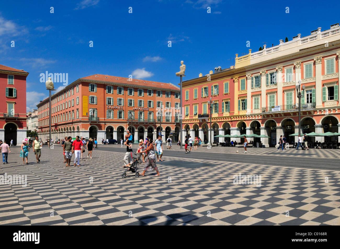 Place Massena, Nice, Nizza, Cote d'Azur, Alpes Maritimes, Provence, France, Europe - Stock Image