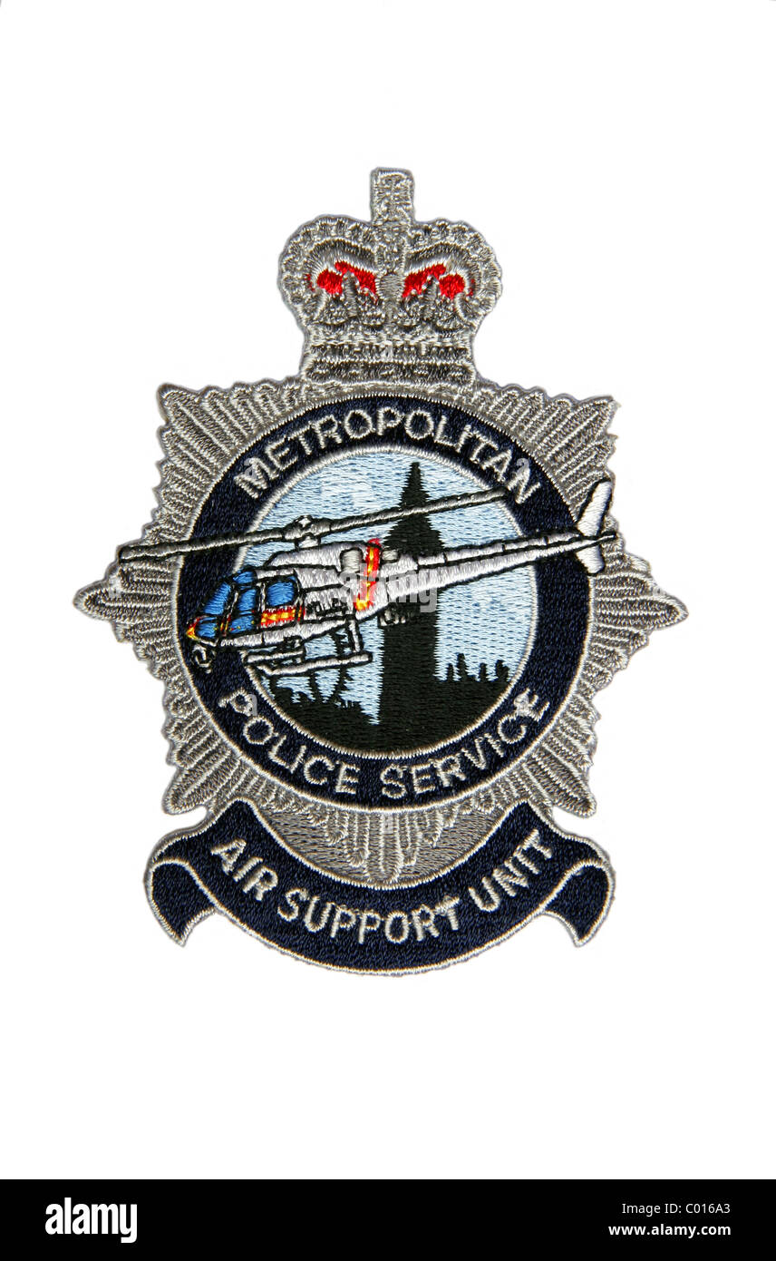 Patch of the London Metropolitan Police Air Support Unit - Stock Image