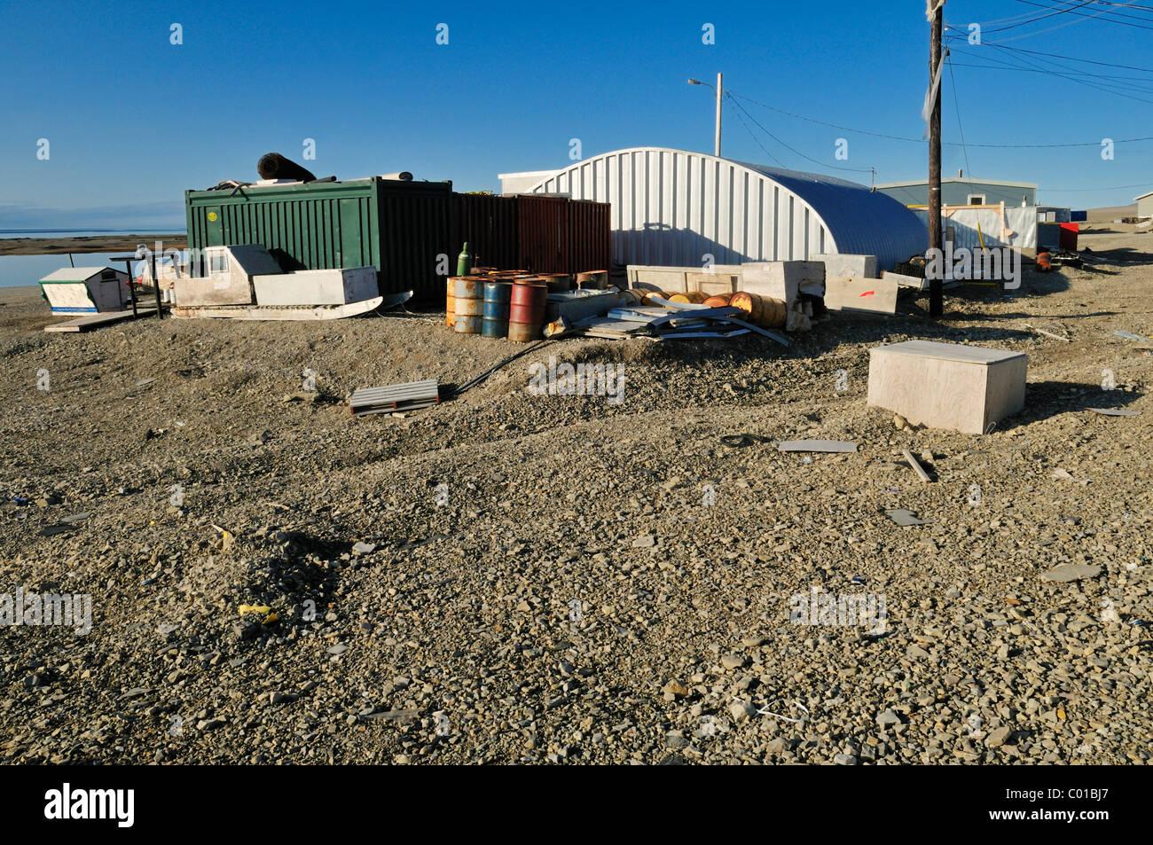 Inuit community Resolute Bay, Cornwallis Island, Northwest Passage, Nunavut, Canada, Arctic - Stock Image