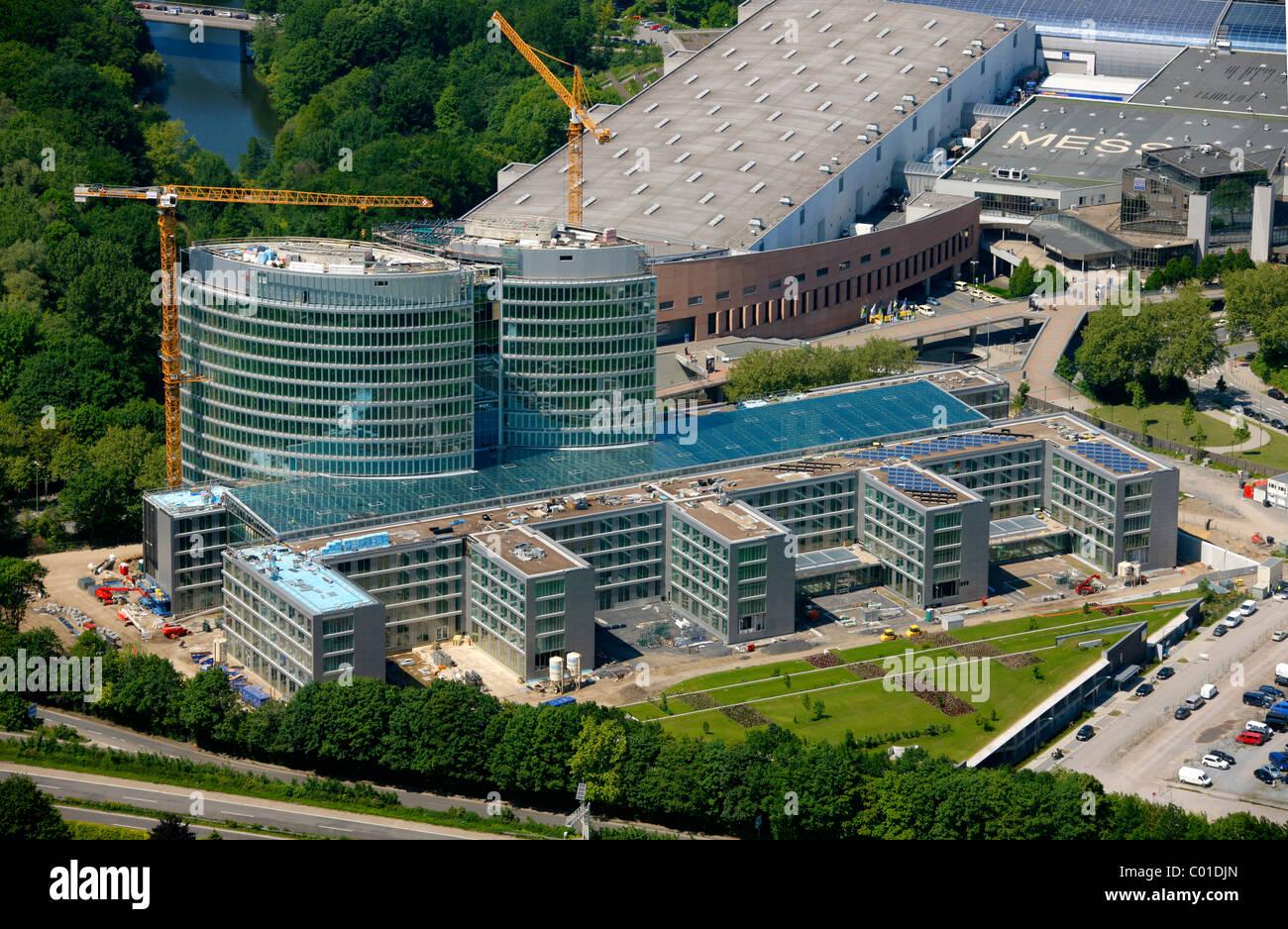 Aerial view, EON Ruhrgas energy corporation Headquarters Essen, Essen, Ruhrgebiet area, North Rhine-Westphalia, - Stock Image