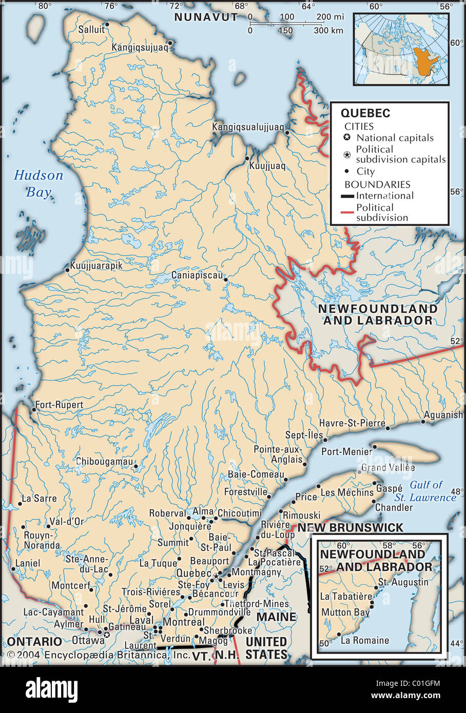 Map of quebec stock photos map of quebec stock images alamy political map of quebec stock image gumiabroncs Choice Image