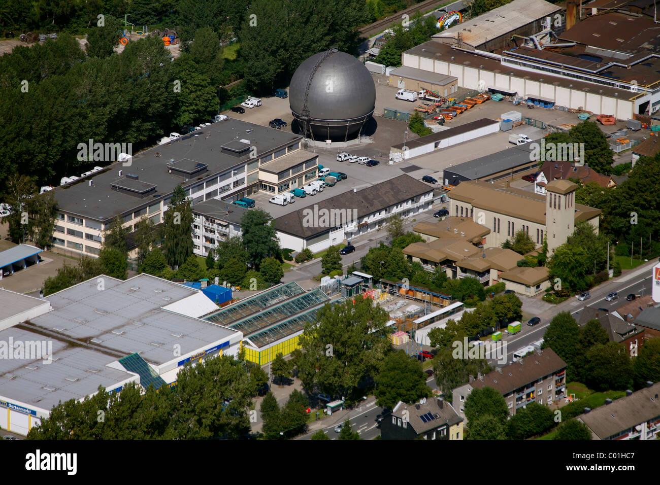Aerial view, municipal utilities, Gevelsberg, North Rhine-Westphalia, Germany, Europe - Stock Image