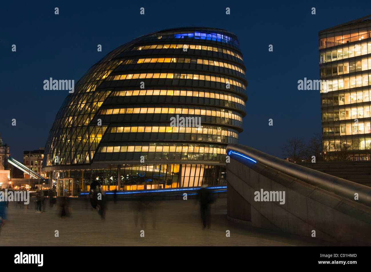 City Hall, home to Mayor of London, London Assembly and Greater London Authority GLA, London, England. - Stock Image