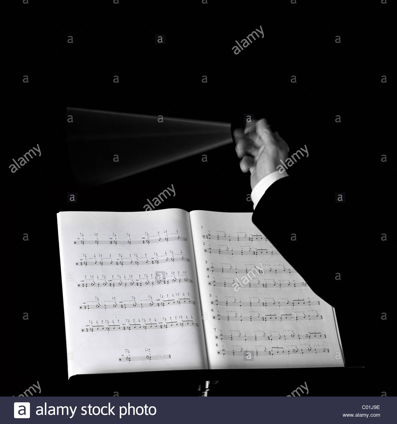 Music conductor - Stock Image