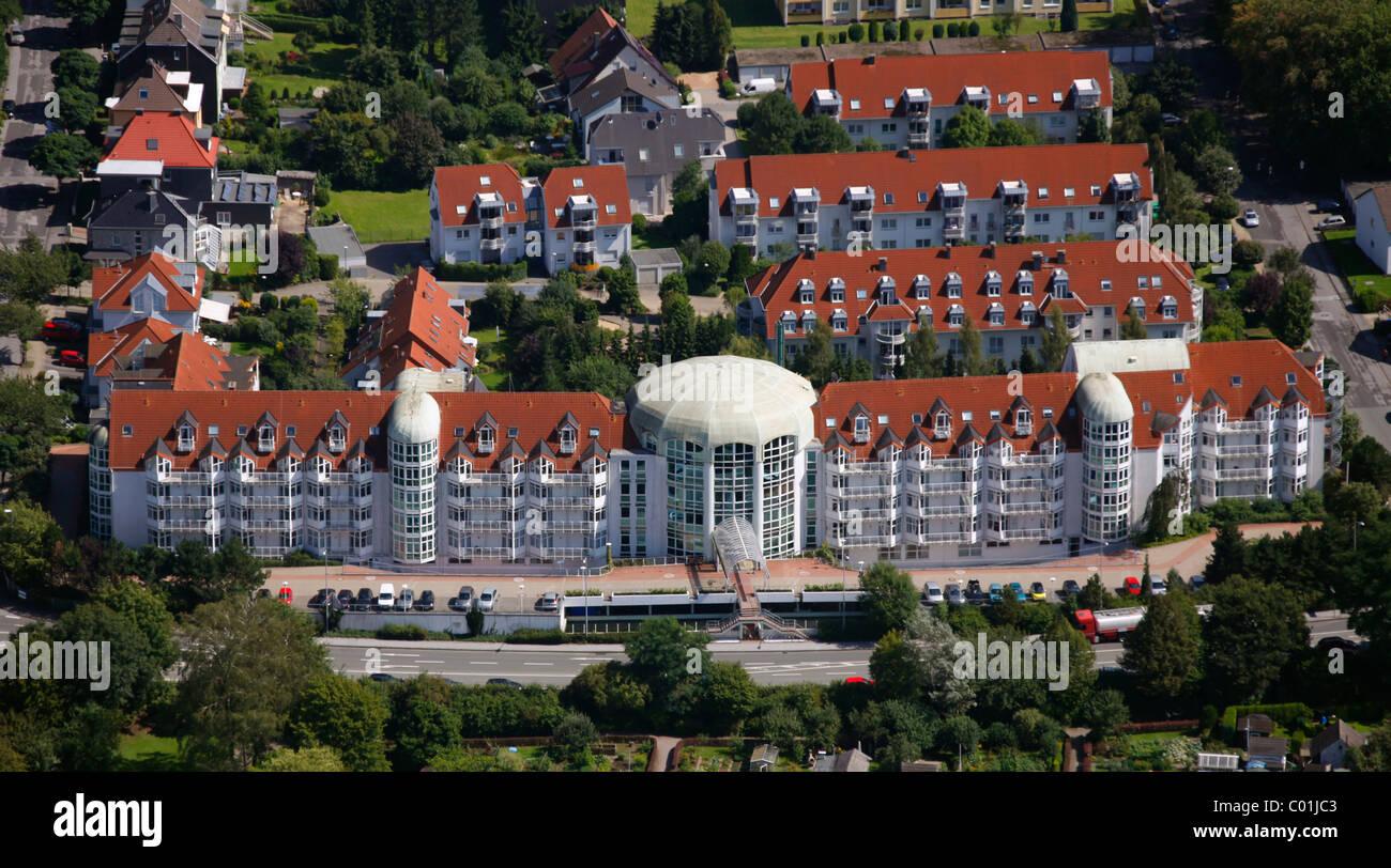 Aerial view, Curanum Westfalen GmbH, Am Ochsenkamp retirement home, Schwelm, North Rhine-Westphalia, Germany, Europe Stock Photo