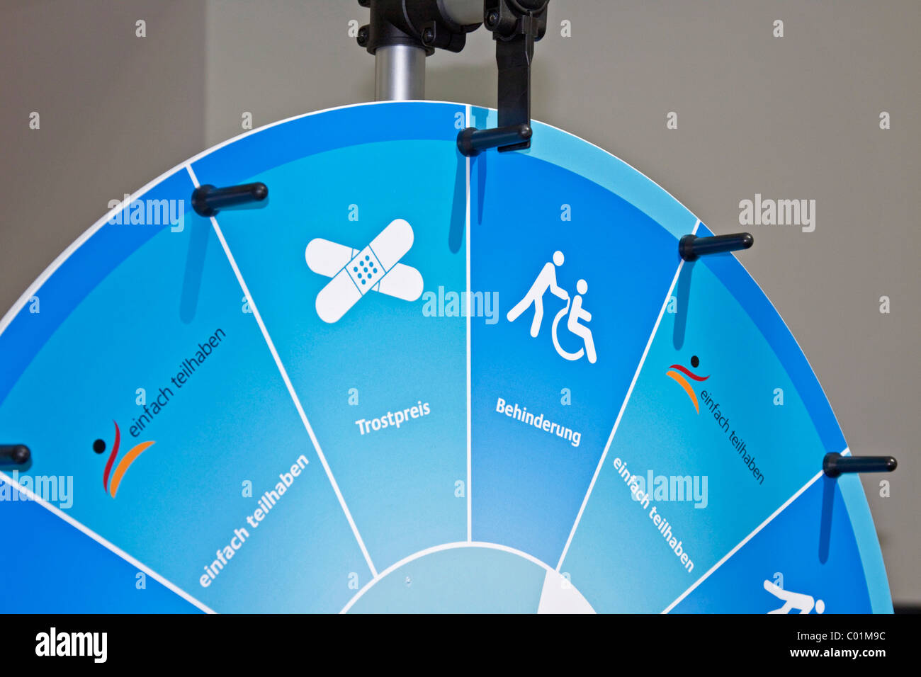 Wheel of fortune, Federal Ministry of Labour and Social Affairs, open day, Berlin, Germany, Europe - Stock Image