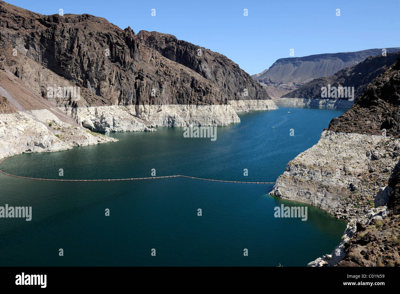 Lake Mead Reservoir at the Hoover Dam, Nevada, USA, North America Stock Photo