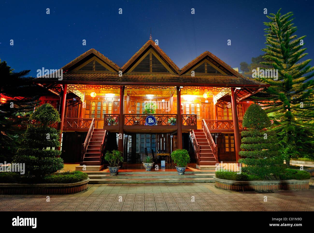Holiday resort in Mai Chau Valley, Vietnam, Asia - Stock Image