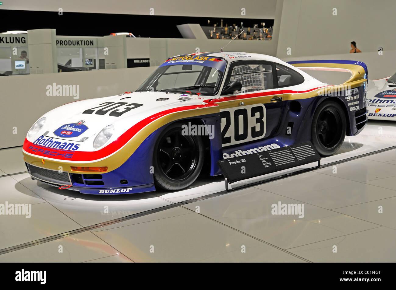 Porsche 961, built in 1986, Porsche Museum, Stuttgart, Baden-Wuerttemberg,