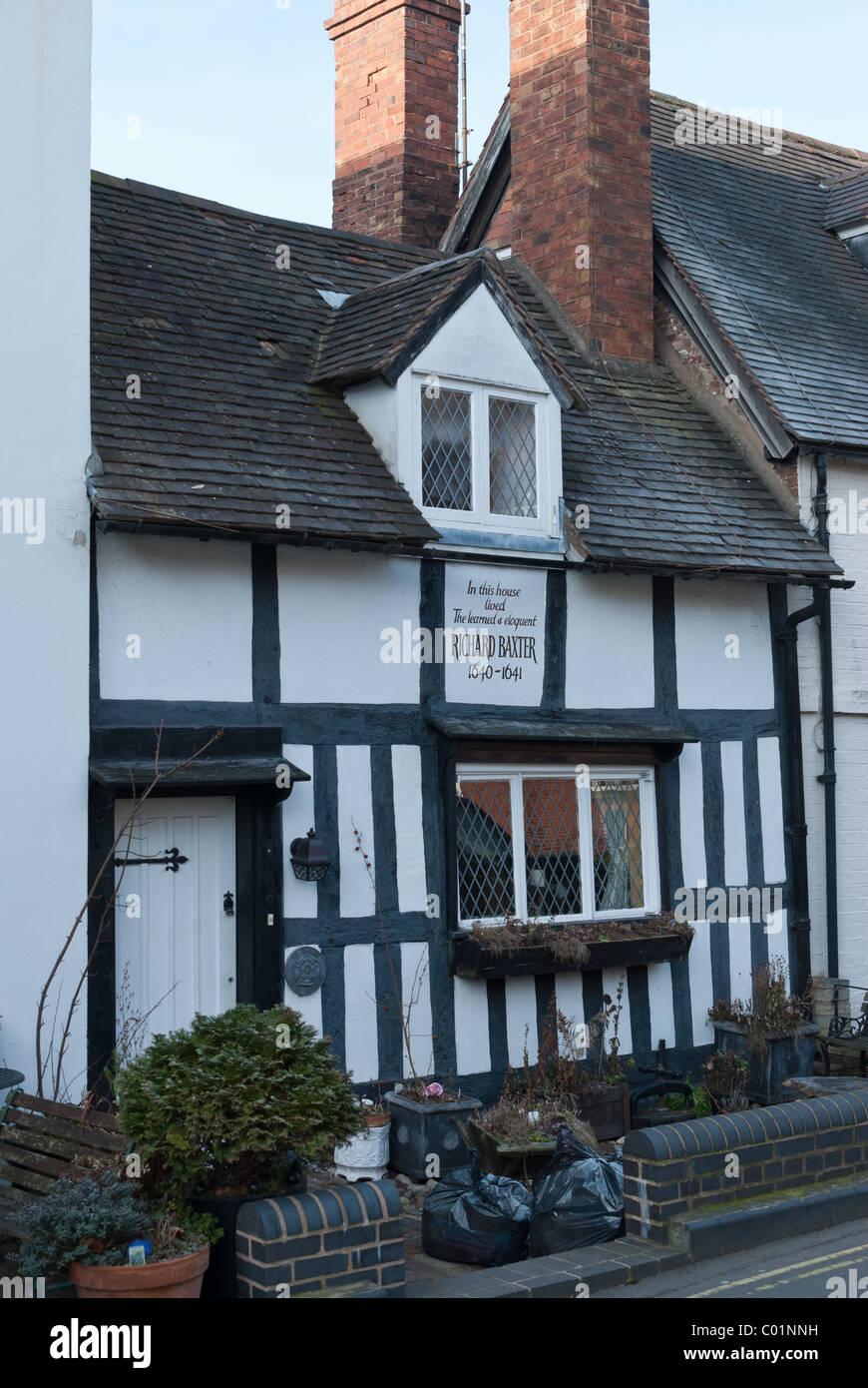 Richard Baxter's House in Bridgnorth, Shropshire. - Stock Image