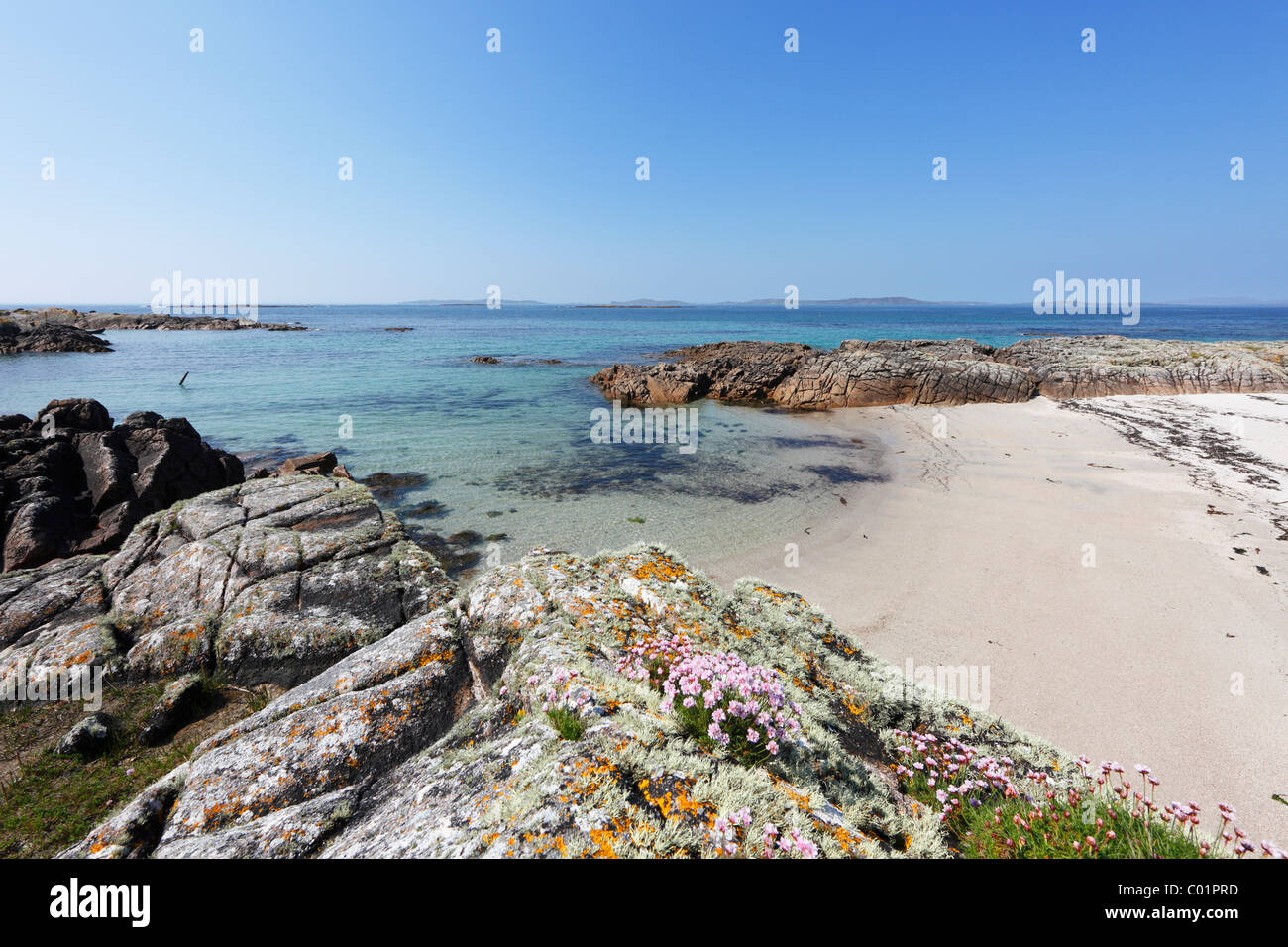 Coast, Aughrus Beg, Connemara, County Galway, Republic of Ireland, Europe - Stock Image