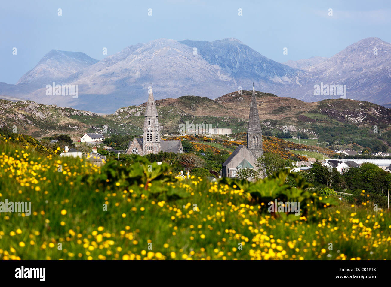 Clifden, Connemara, County Galway, Republic of Ireland, Europe - Stock Image
