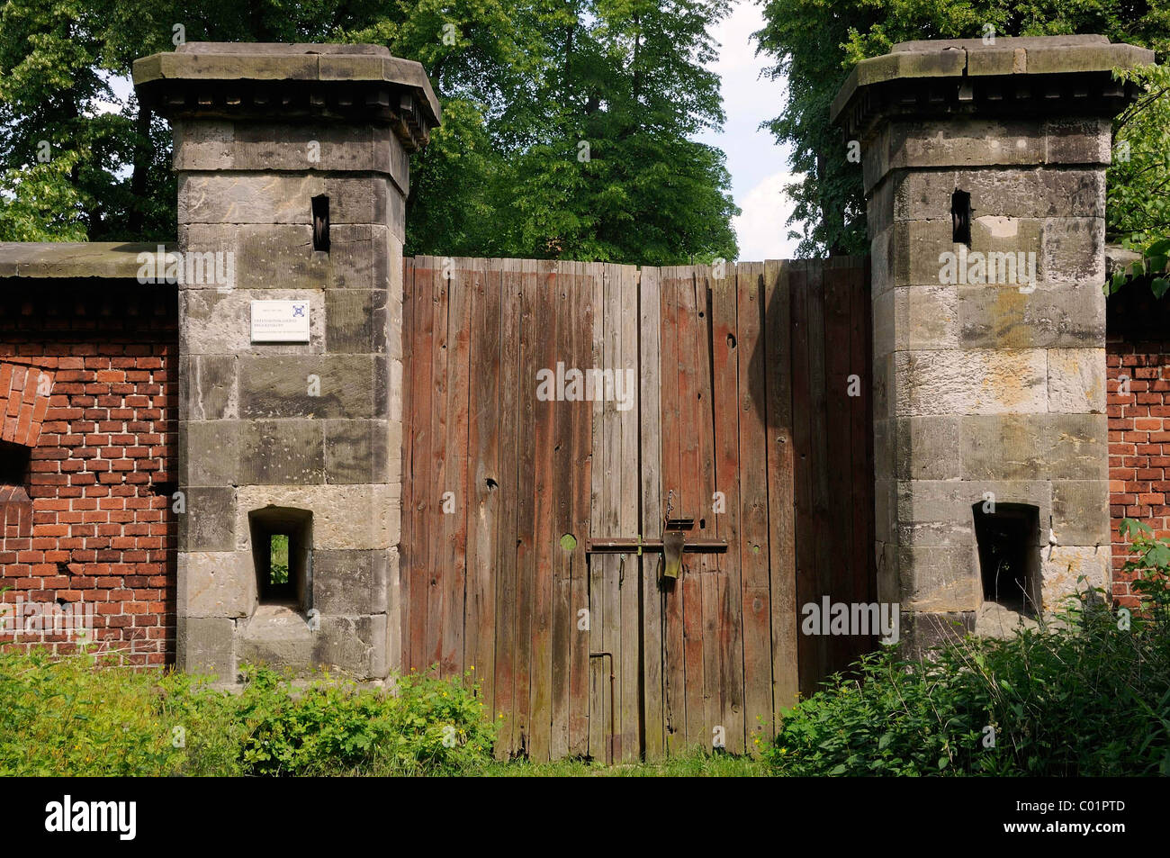 Devensive barracks Brueckenkopf, Torgau, Landkreis Nordsachsen county, Saxony, Germany, Europe Stock Photo