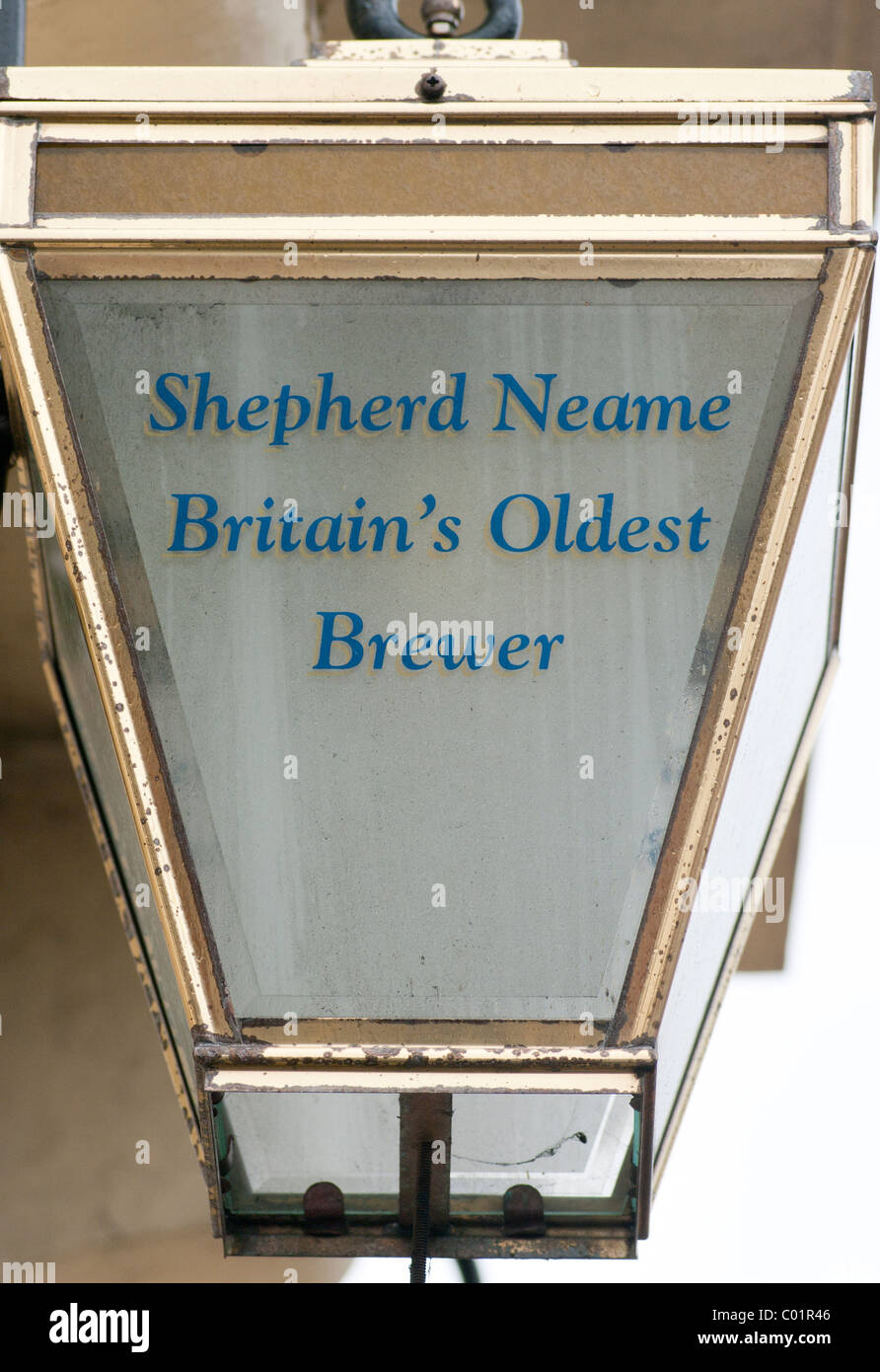 Shepherds Neame Britains Oldest Brewer Lamp - Stock Image