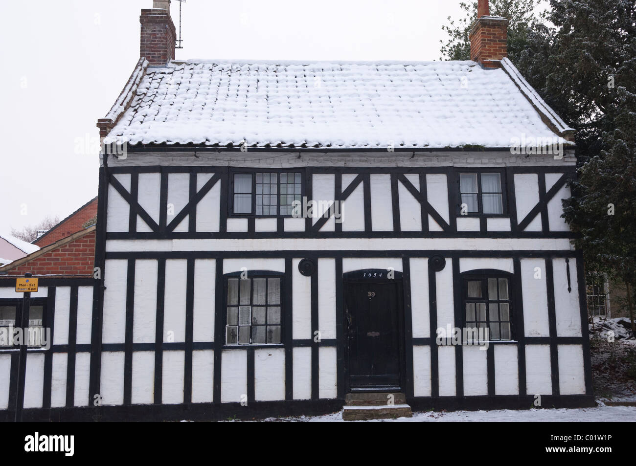 A Tudor house dated 1654 in Ballygate in Beccles , Suffolk , England , Britain , Uk - Stock Image