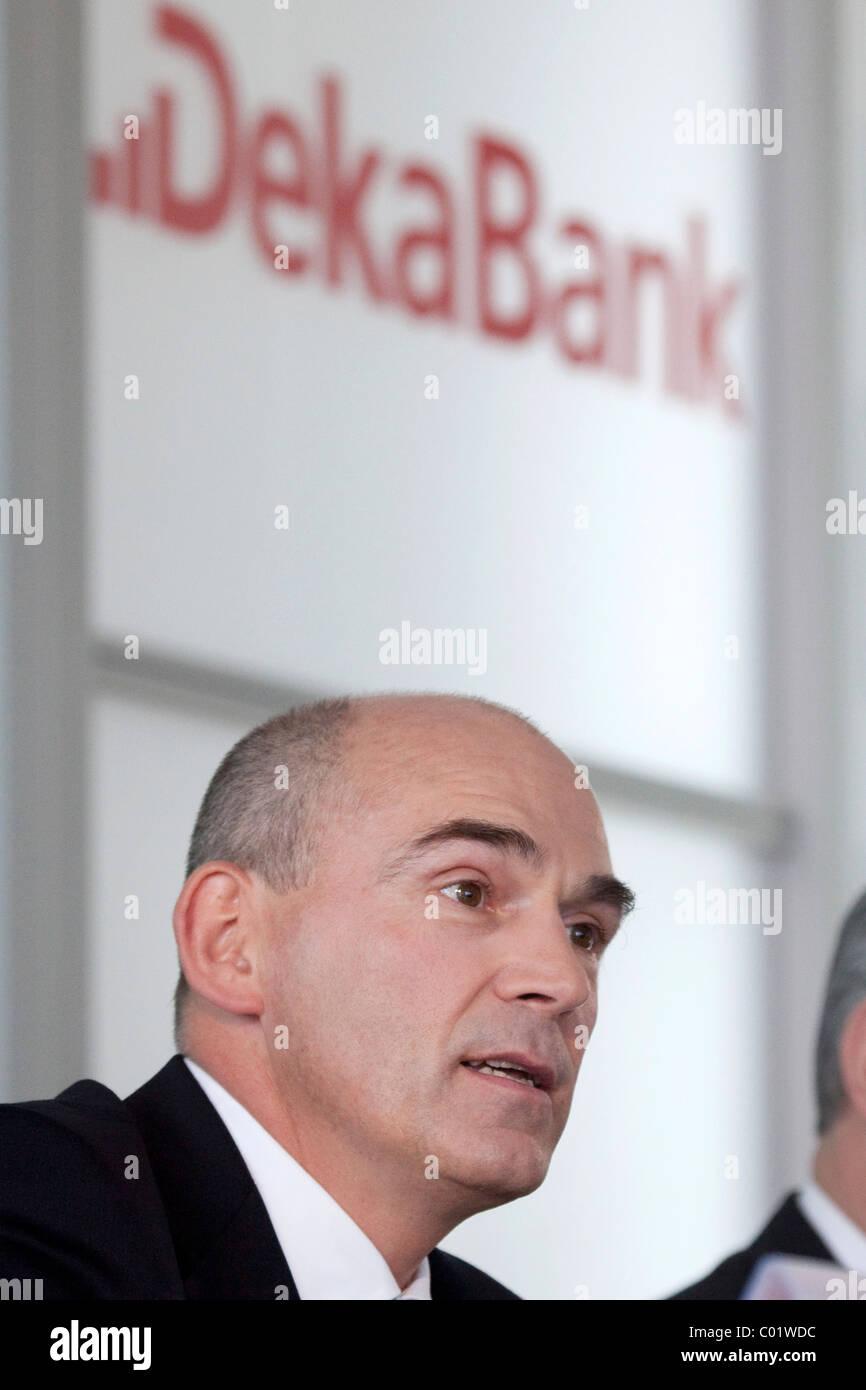 Franz Waas, CEO of Deka Bank on 24.03.2010 in Frankfurt am Main, Hesse, Germany, Europe - Stock Image