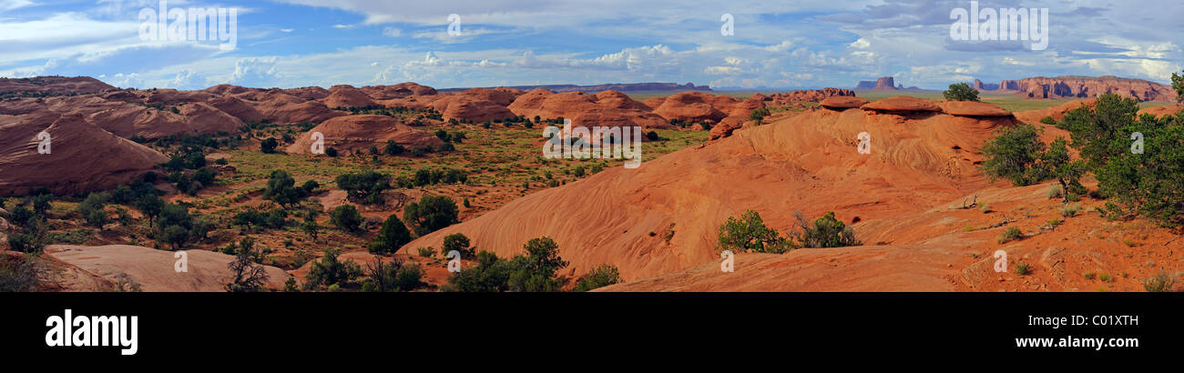 Panoramic views of the Mystery Valley, Arizona, USA, North America - Stock Image