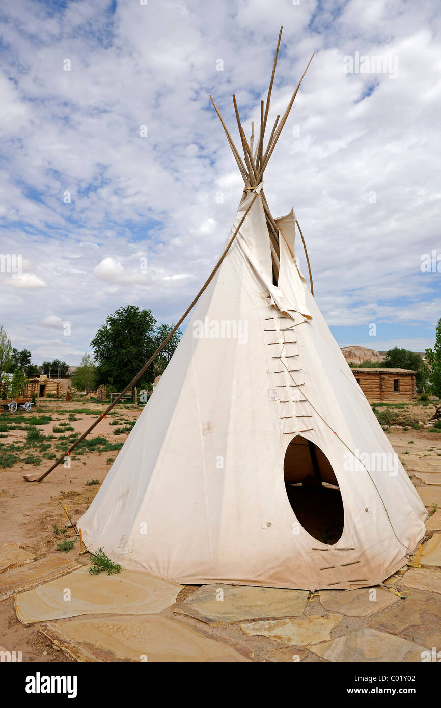 Replica of a tent of the Ute Indians Bluff Utah USA North America & Replica of a tent of the Ute Indians Bluff Utah USA North ...