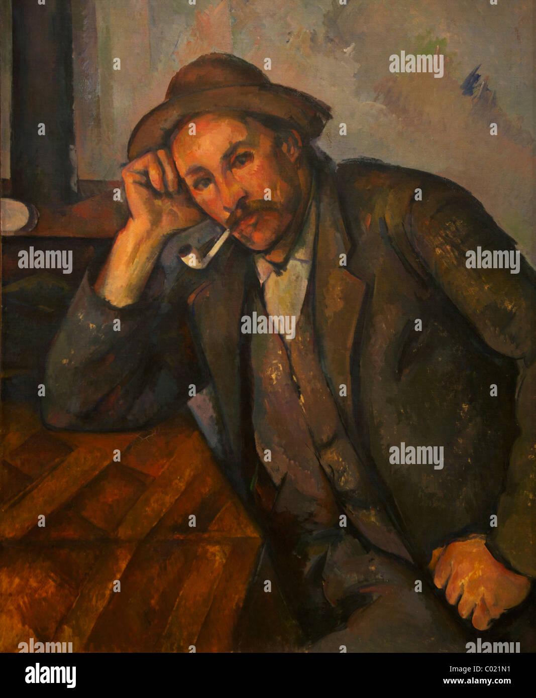 The Smoker, circa 1890-1891, Paul Cezanne, Courtauld Gallery, Somerset House, London, England, UK, United Kingdom, - Stock Image