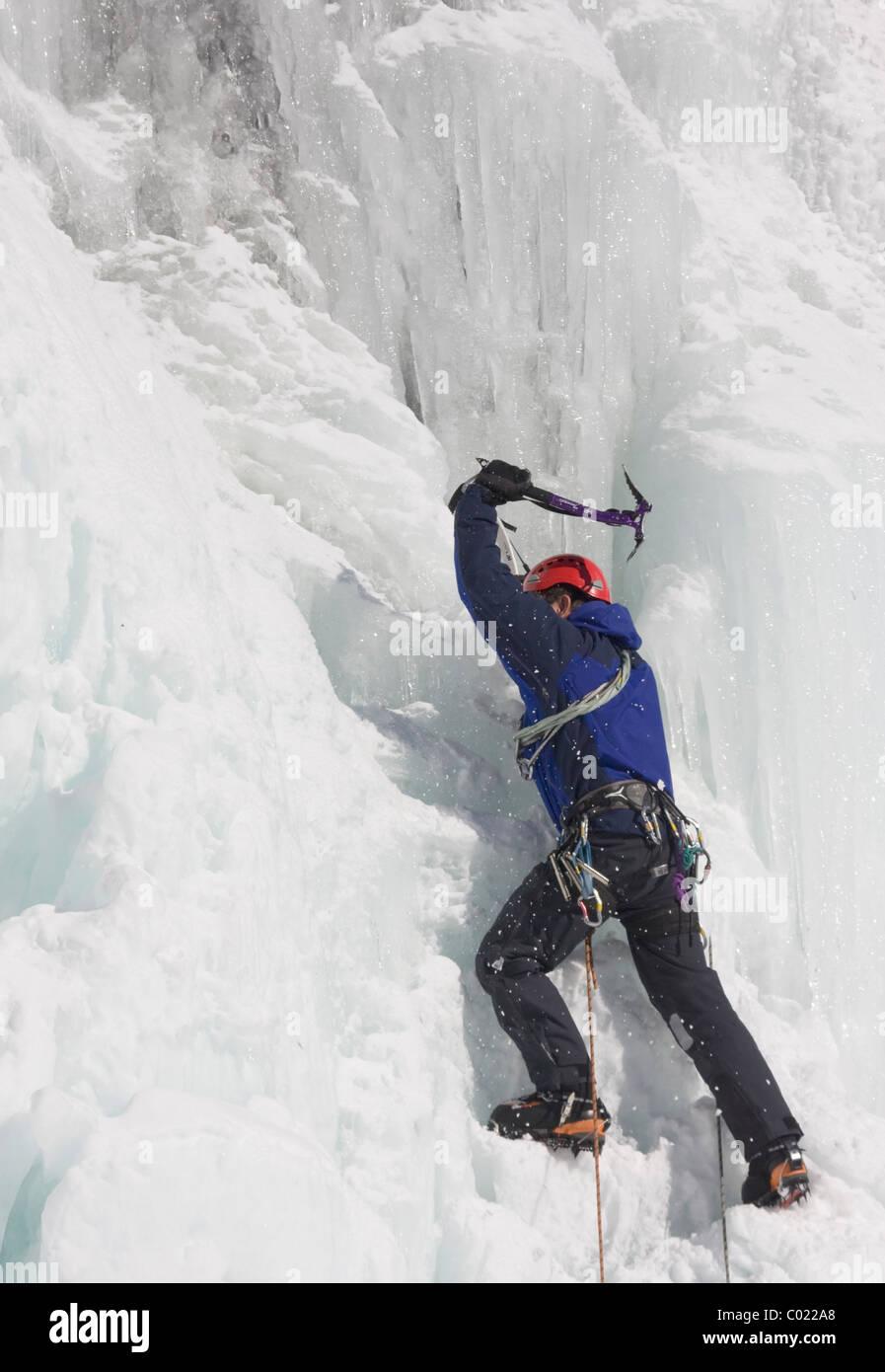 Ice climber - Stock Image