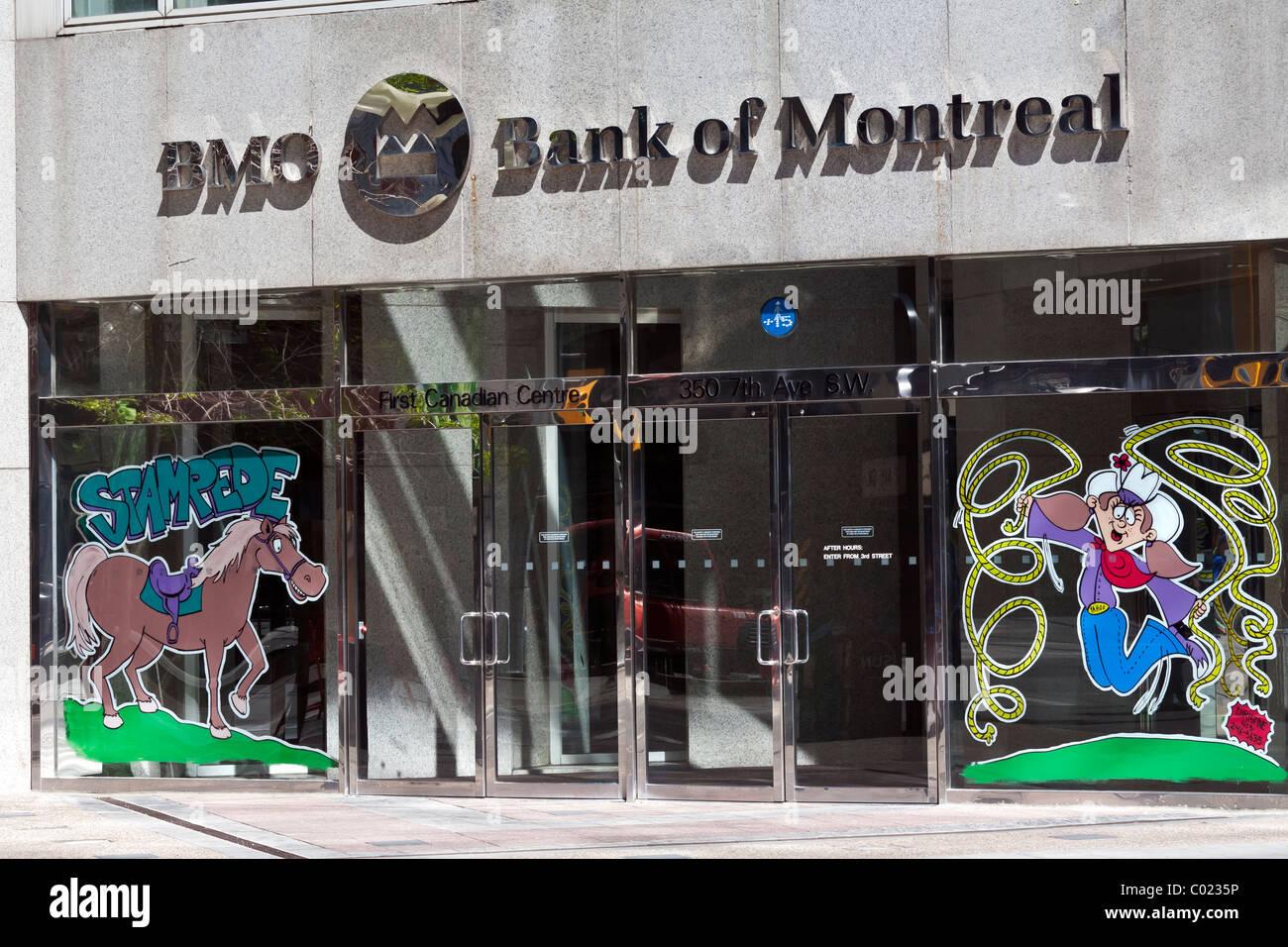 Bank of Montreal front facade Calgary, Canada - Stock Image