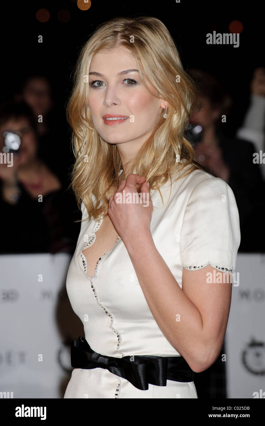 Rosamund Pike arrives for the Critic's Circle Awards at the BFI, Southbank, London, 10th February 2011. Stock Photo