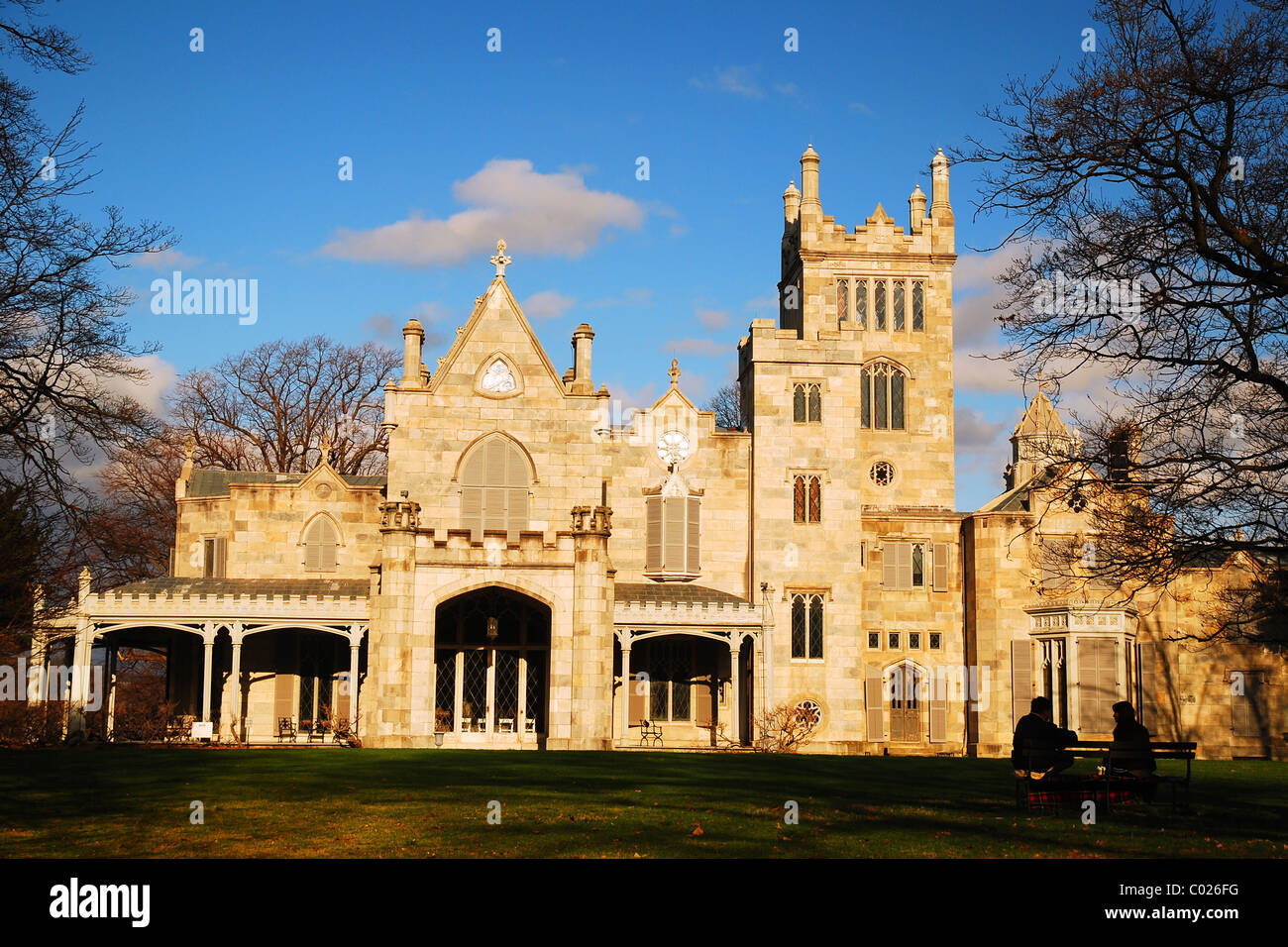 lyndhurst the gothic revival home of railroad giant jay gould sits