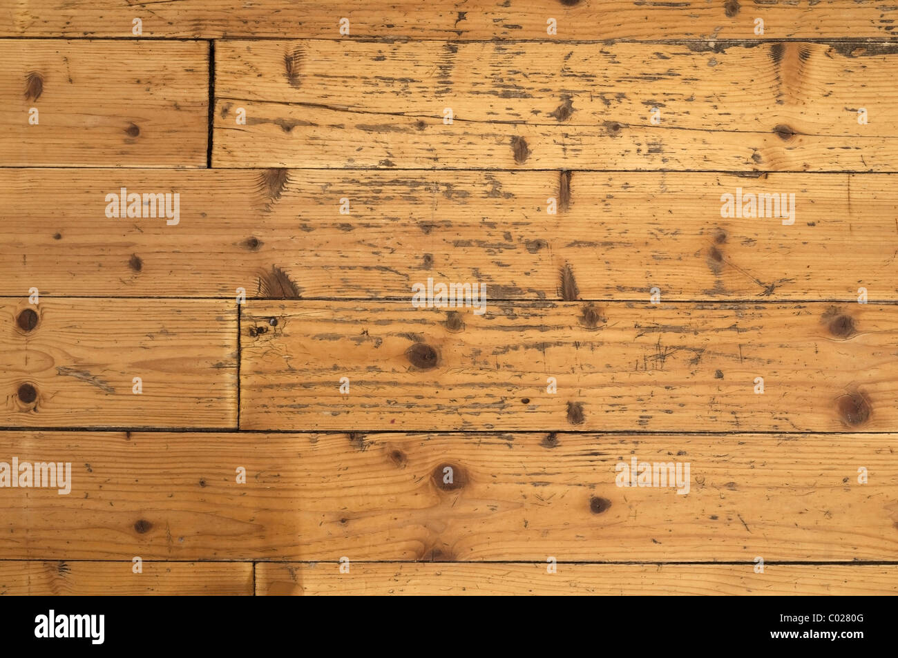 Old wood floor, background - Stock Image