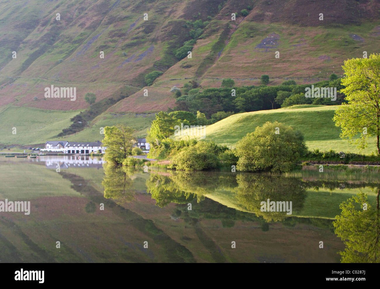 Tal-y-Llyn and the Tynycornel Hotel - Stock Image