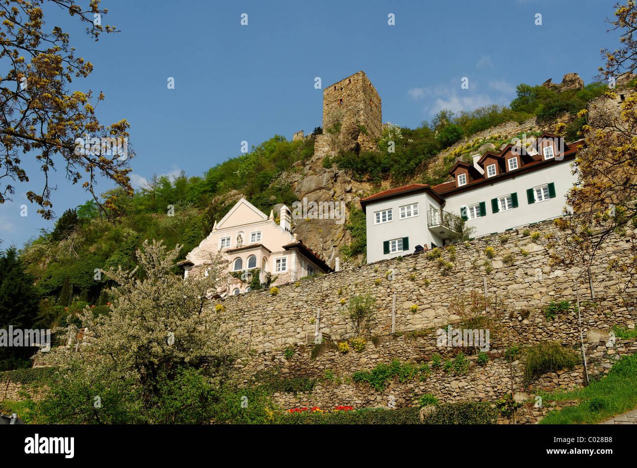 Ruine Duernstein castle ruins, Wachau, Lower Austria, Europe Stock Photo