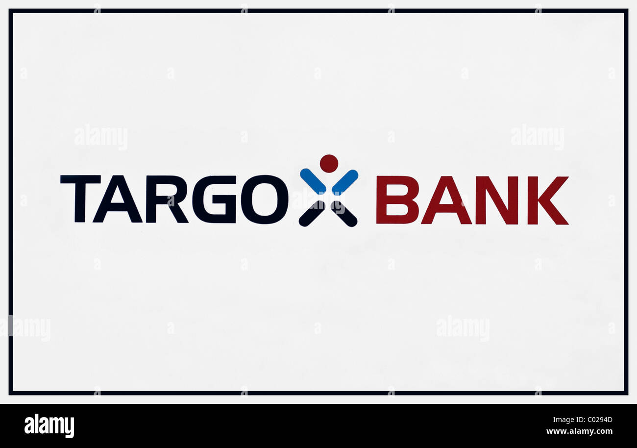 Logo and lettering, Targo Bank - Stock Image