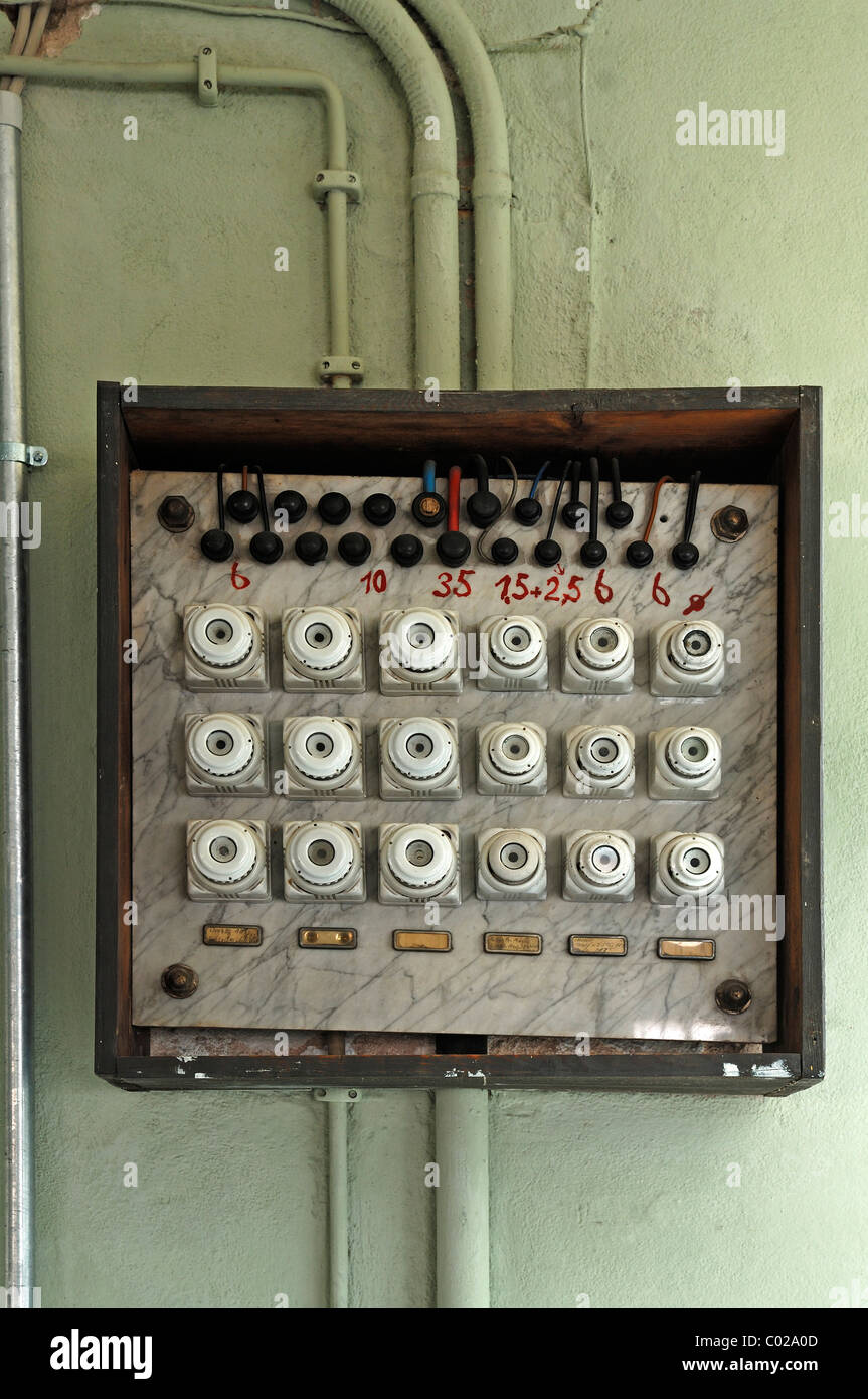 Old fuse box from 1930, former factory of Dietz & Pfriem, now Museum of