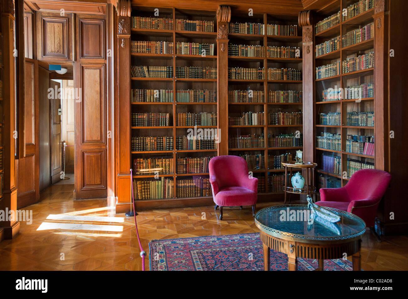 Helikon Library, reading room, Festetics Palace in Kesztehely, Hungary, Europe - Stock Image