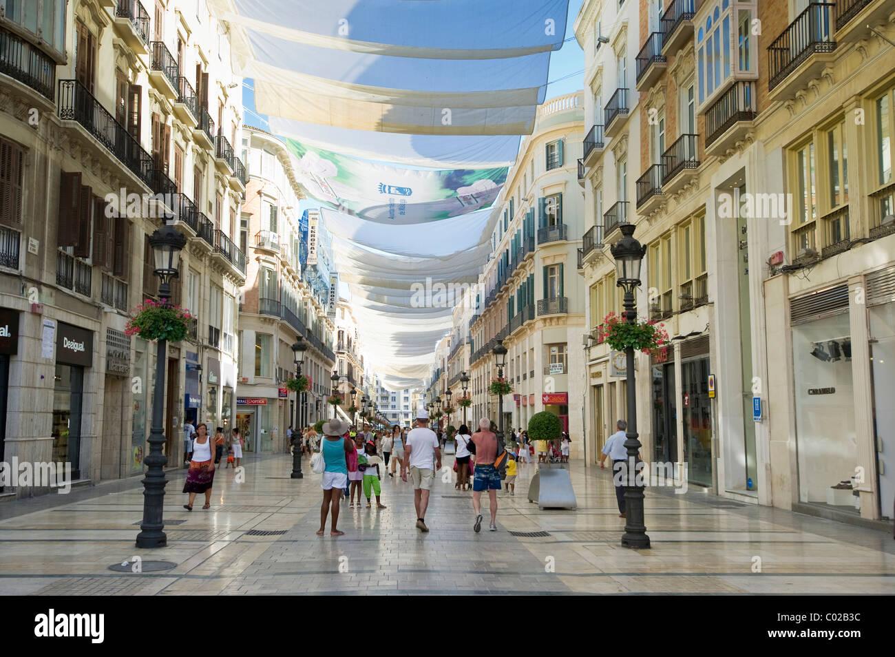 Calle De Molina Lario The Main Shopping Street In Malaga
