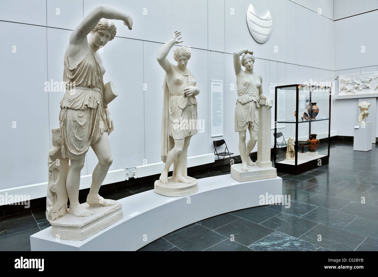 Three Amazons, Roman copies from about 440 B.C.E., Antique collection, Koenigsplatz, Munich, Bavaria, Germany, Europe - Stock Image