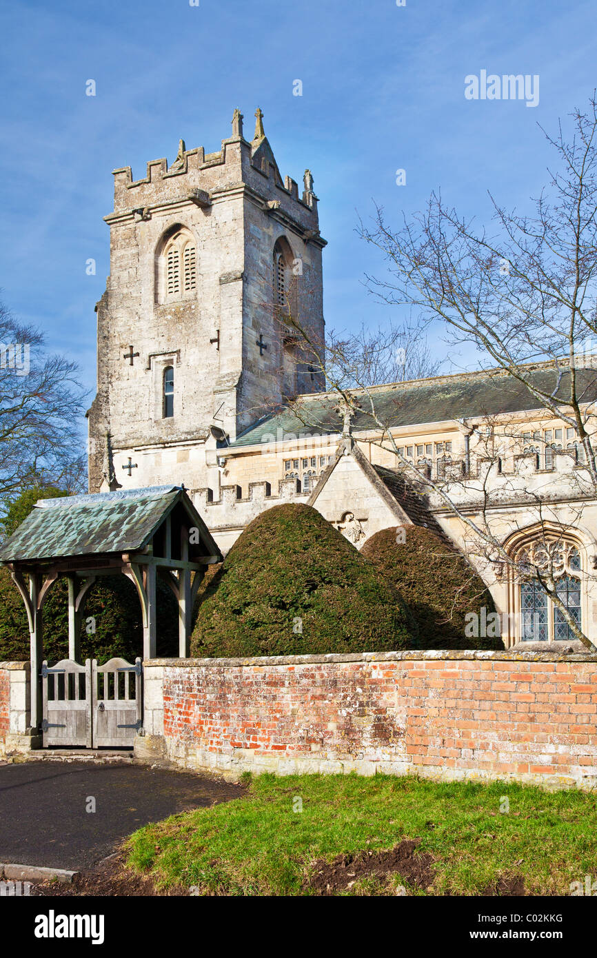 St Katharine's, a typical Church of England, English village church in Holt, Wiltshire, England, UK - Stock Image