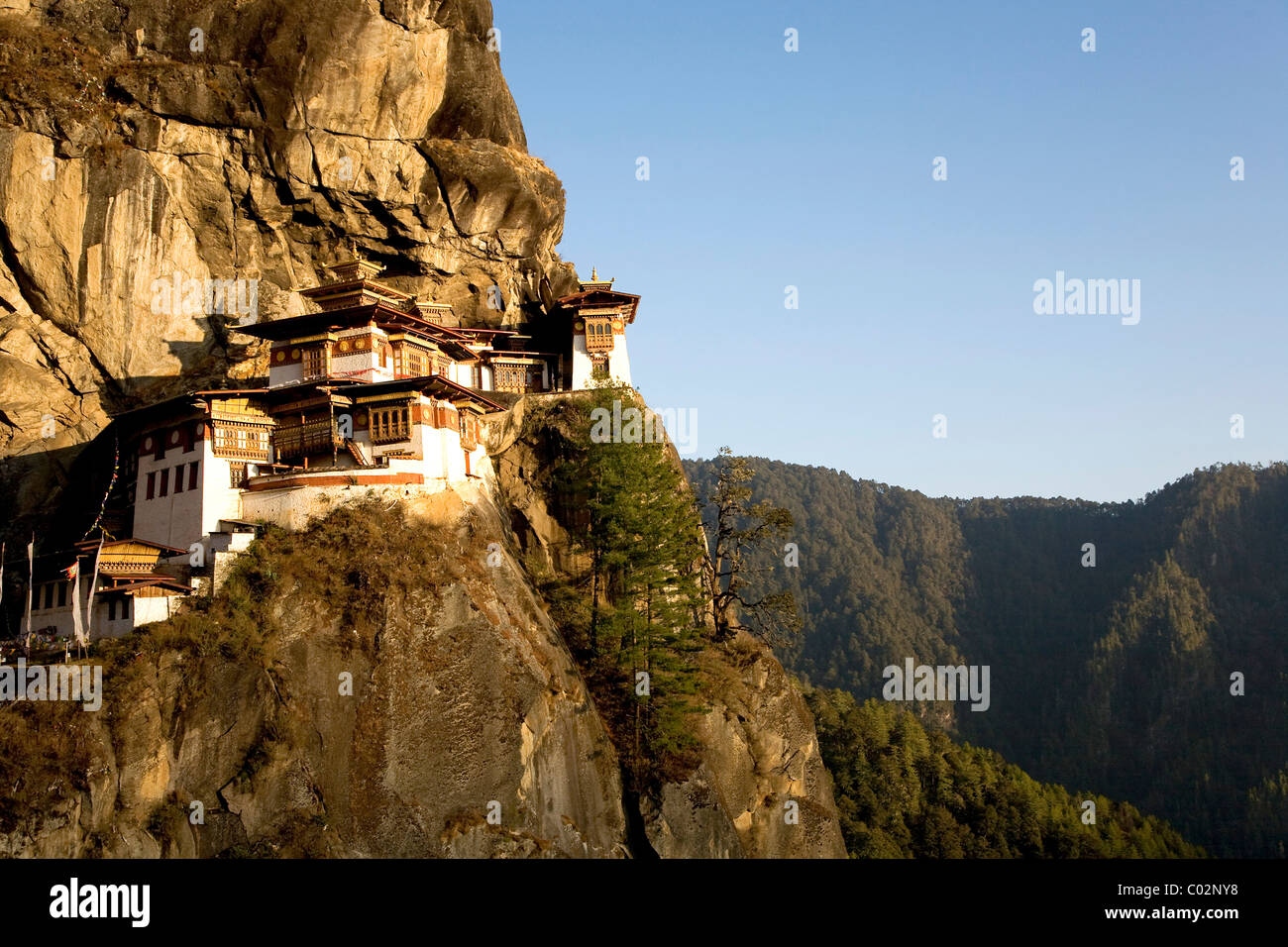 Taktsang Monastery, 3120m, also known as Tiger's Nest, Paro, Bhutan, Kingdom of Bhutan, South Asia - Stock Image