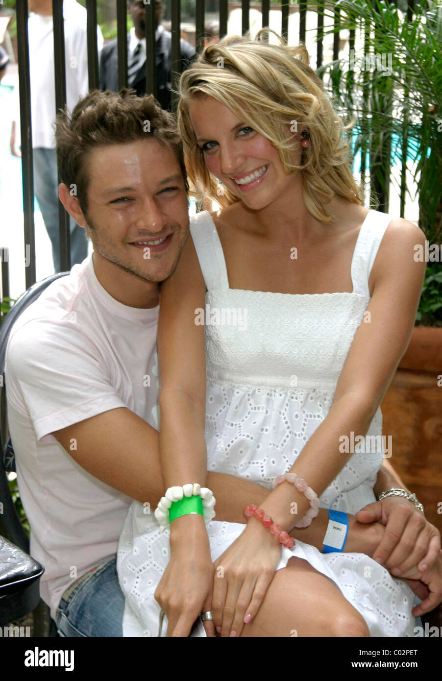 Michael Graziadei And His Girlfriend Heather The Young And The Stock Photo Alamy