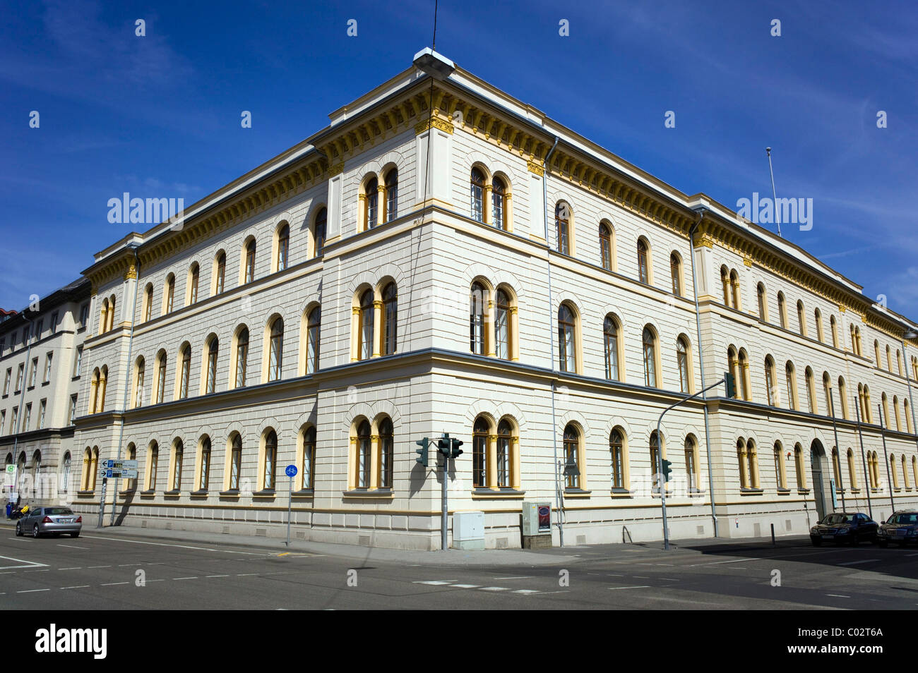 Hessian Ministry of Justice and integration and Europe, Wiesbaden, Hessen, Germany, Europe - Stock Image