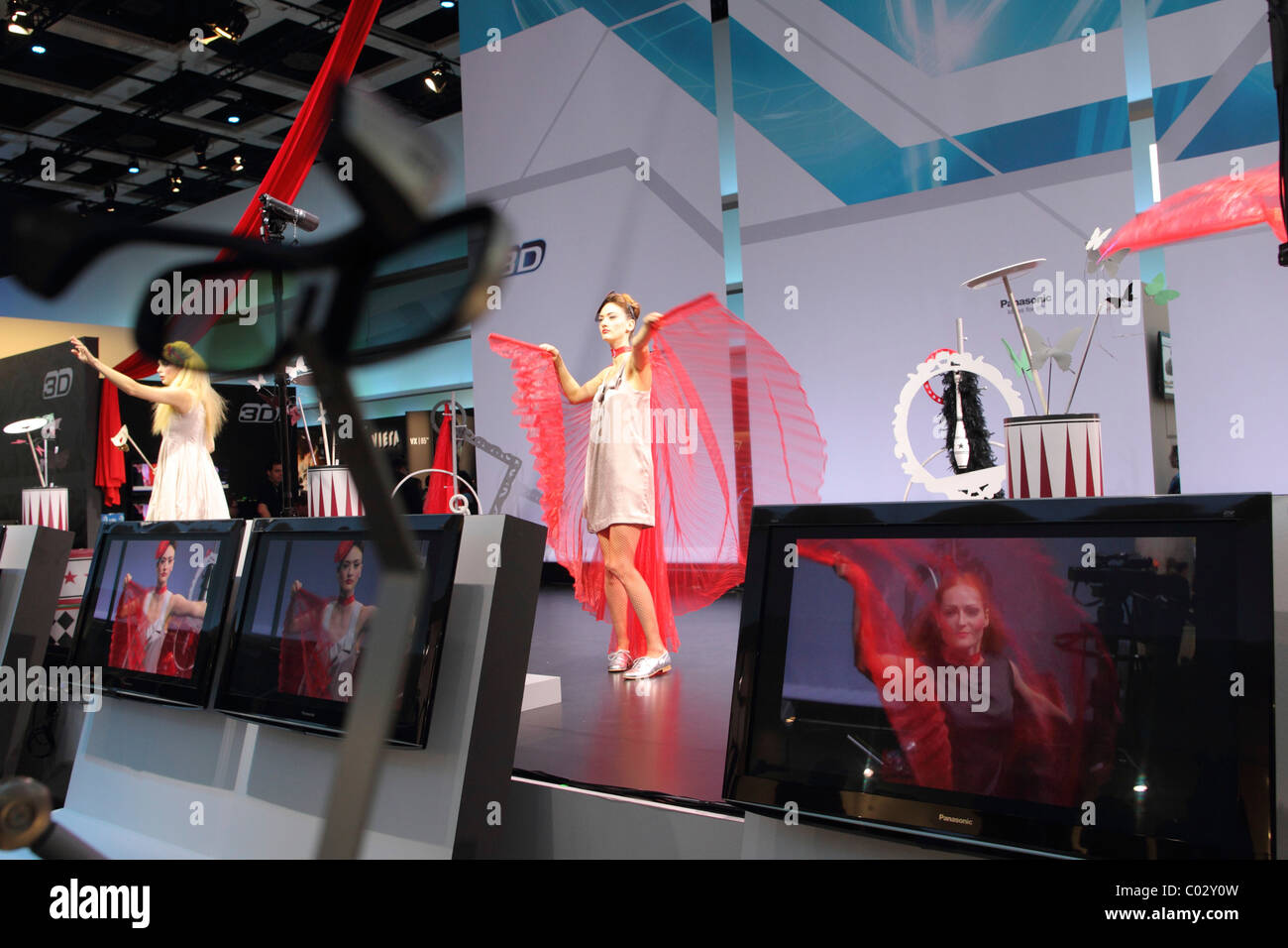3D presentation at the Panasonic booth, IFA Berlin 2010, Berlin, Germany, Europe - Stock Image