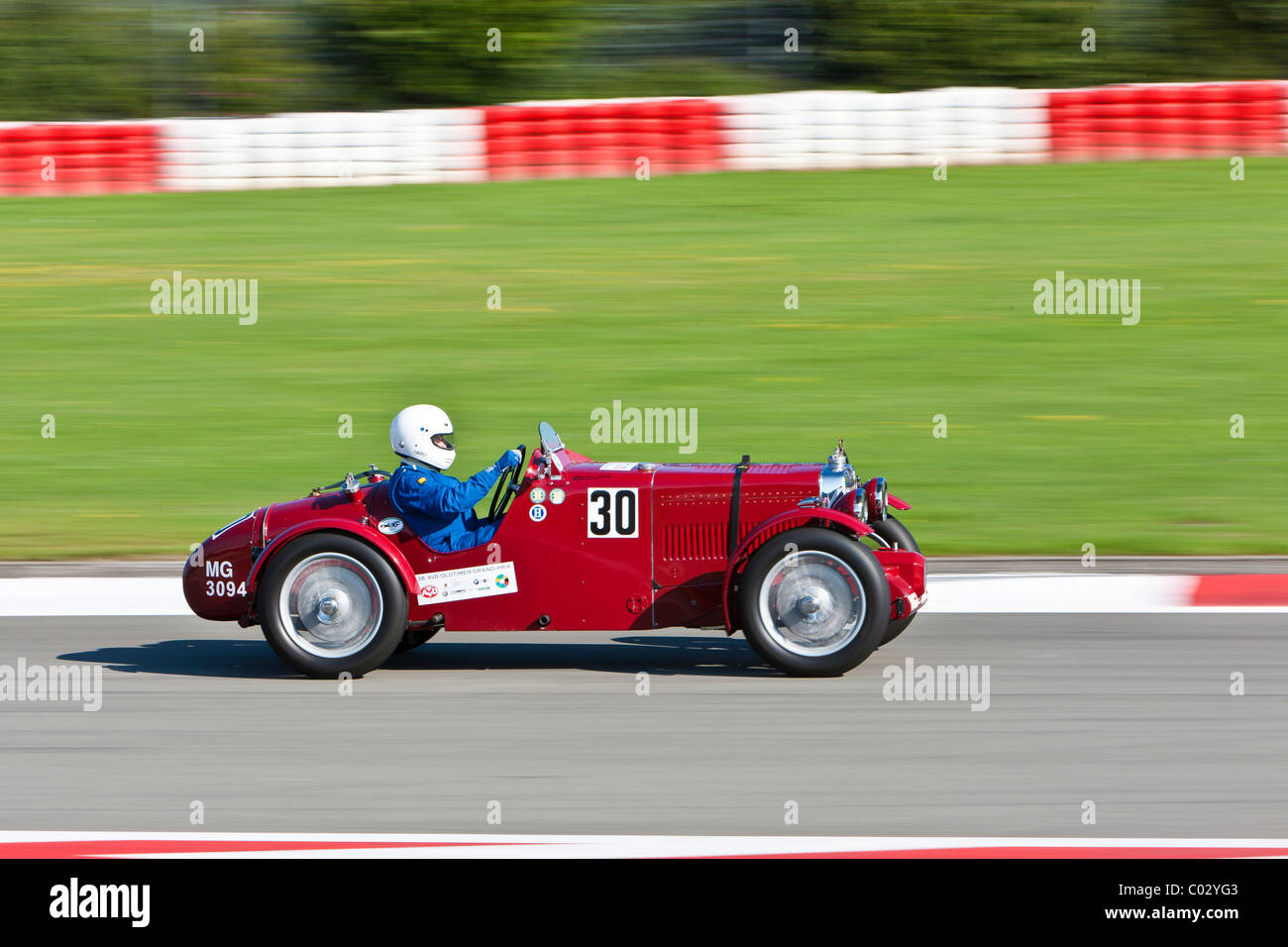 Race of pre-war racing cars at the Oldtimer Grand Prix 2010 on the Nurburgring race track, Rhineland-Palatinate, - Stock Image
